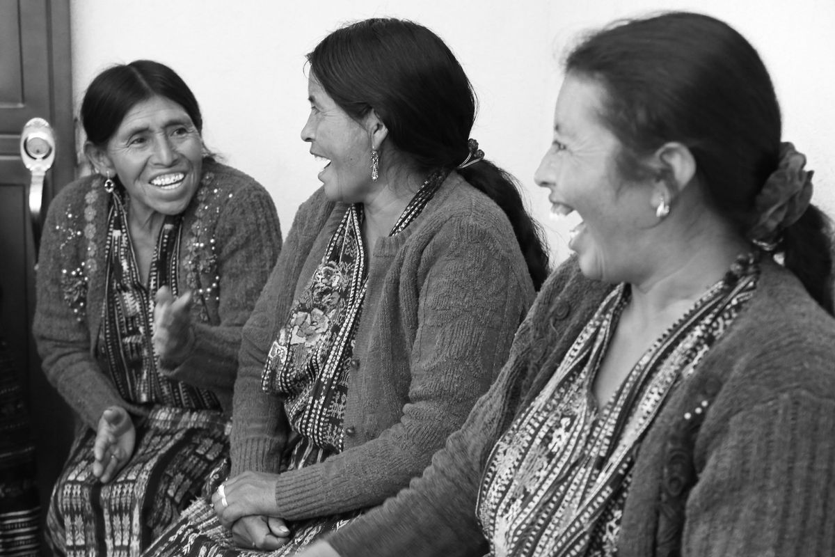 Guatemalan artisans who work with the socially responsible fair-trade brand Raven + Lily.Photo: Raven + Lily
