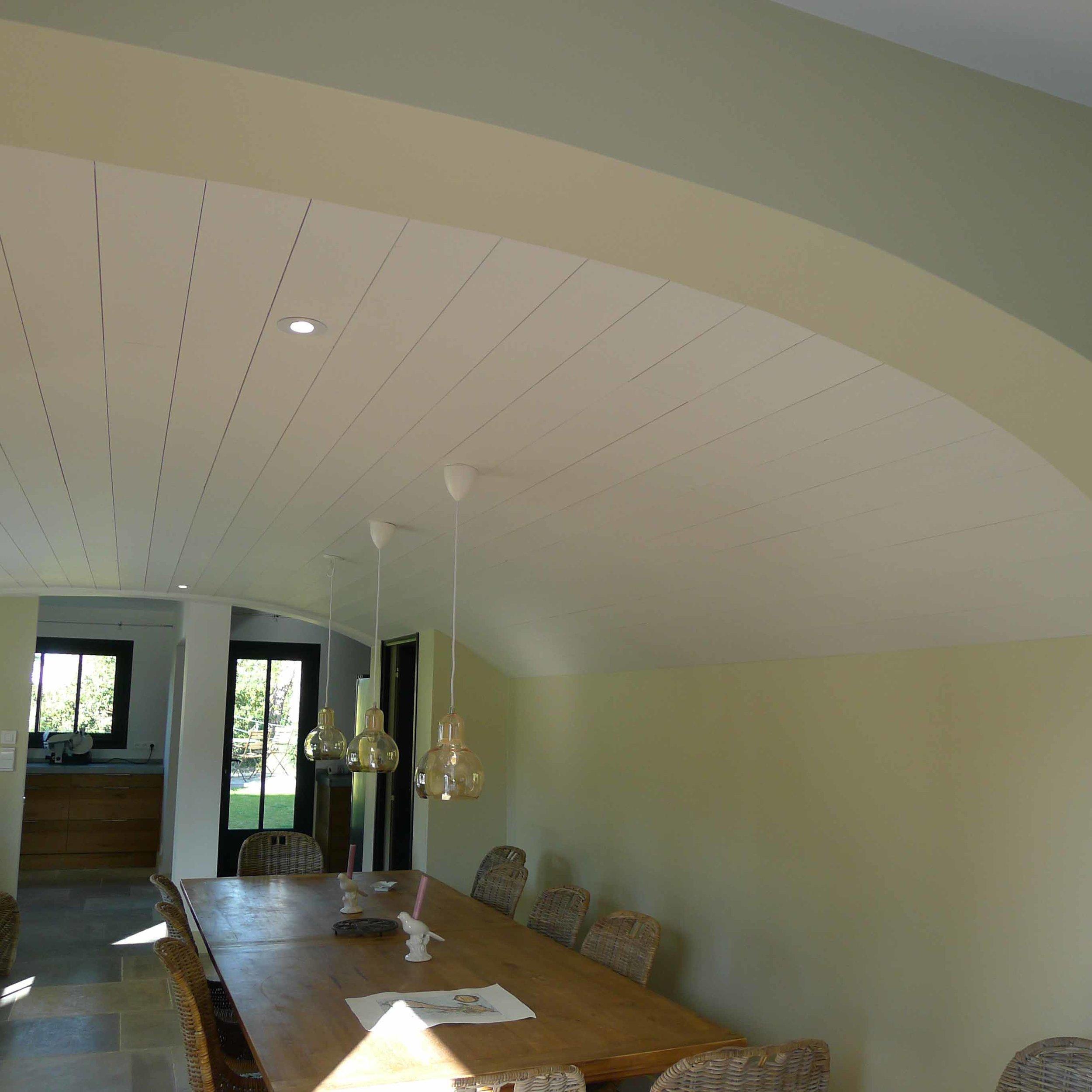 Plafond en lambris