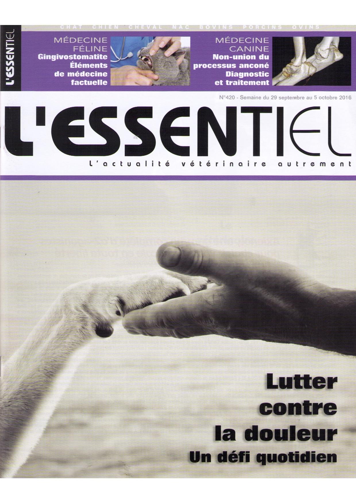 L'ESSENTIEL / 29 SEPTEMBRE 2016
