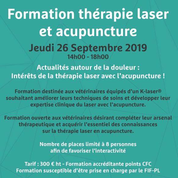 10 juillet 2019 - Formation thérapie laser et acupuncture