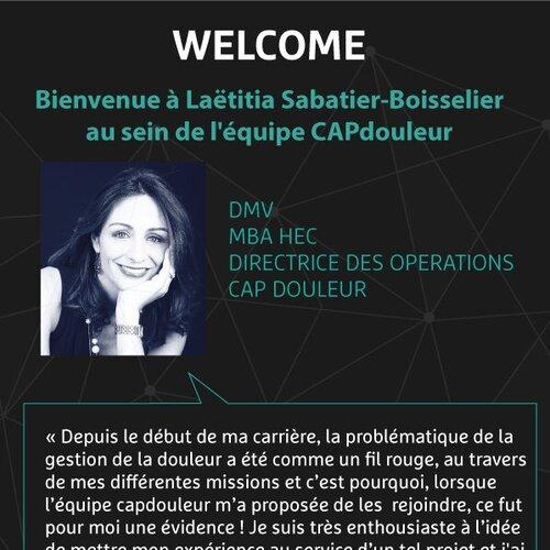 3 Septembre 2019 - Welcom Laetitia Sabatier-Boisselier