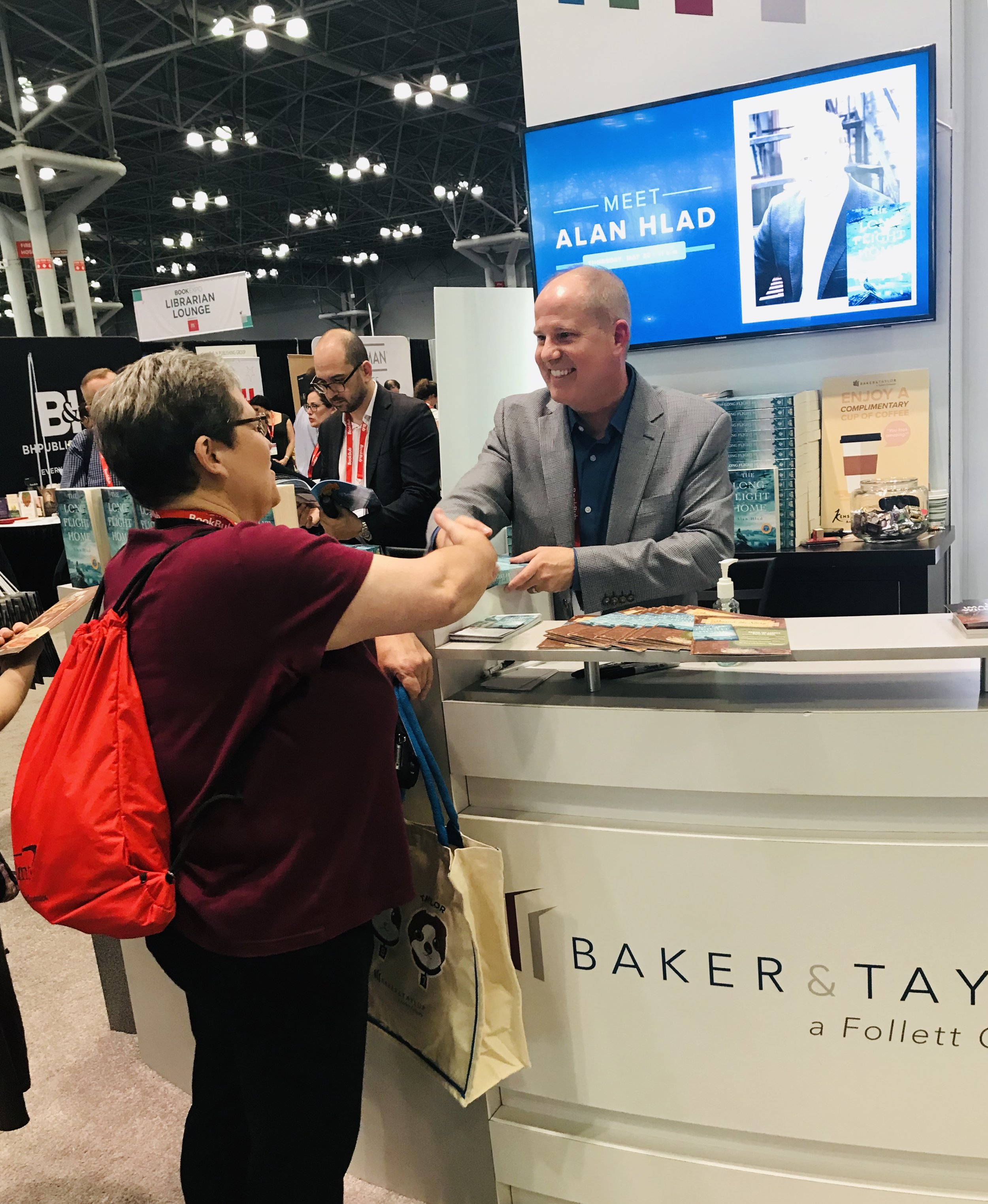 2019 BookExpo, NYC - Baker & Taylor book signing event