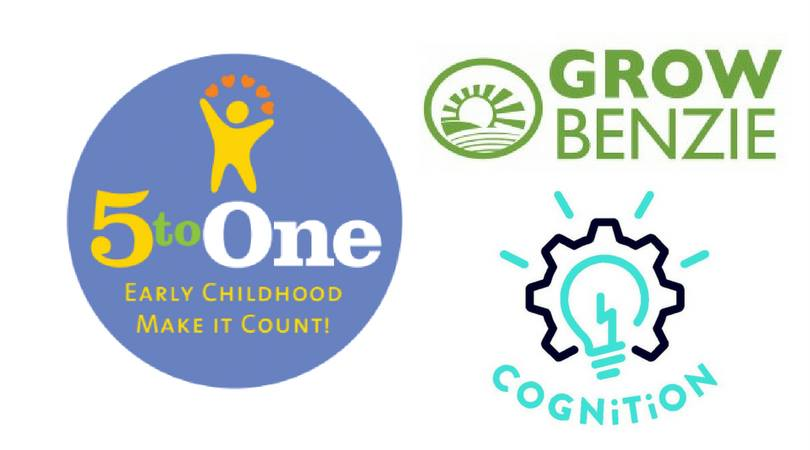 Find us in the Community Room or on the edible trails if the weather is suitable! 5toONE playgroups at Grow Benzie will have an emphasis on nutrition and taste testing.  All playgroups are free and include a snack and story for children as well as playtime with engaging materials. Activities are designed for children 0-6 but older siblings are always welcome.  Each playgroup includes a parent meeting where we share resources and talk about subjects that are important to you. They are optional but highly encouraged.  Plus, take home a free book provided by Born to Read!  5toONE is an innovative project of the Great Start Collaborative that brings together families and local partners to ensure that all children reach their highest potential.