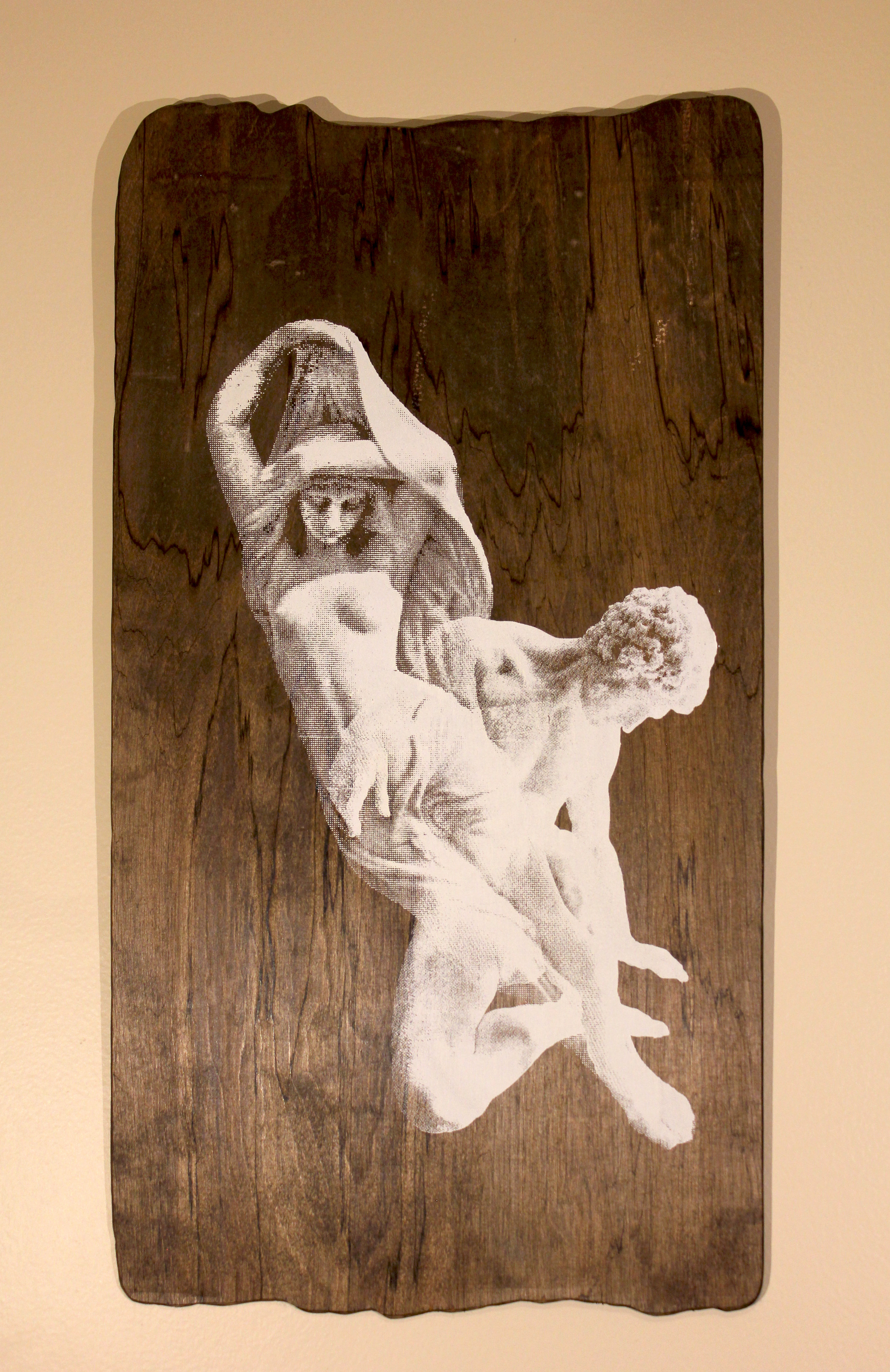 Statues   $150 birch panel, acrylic ink, woodstain, wood seal