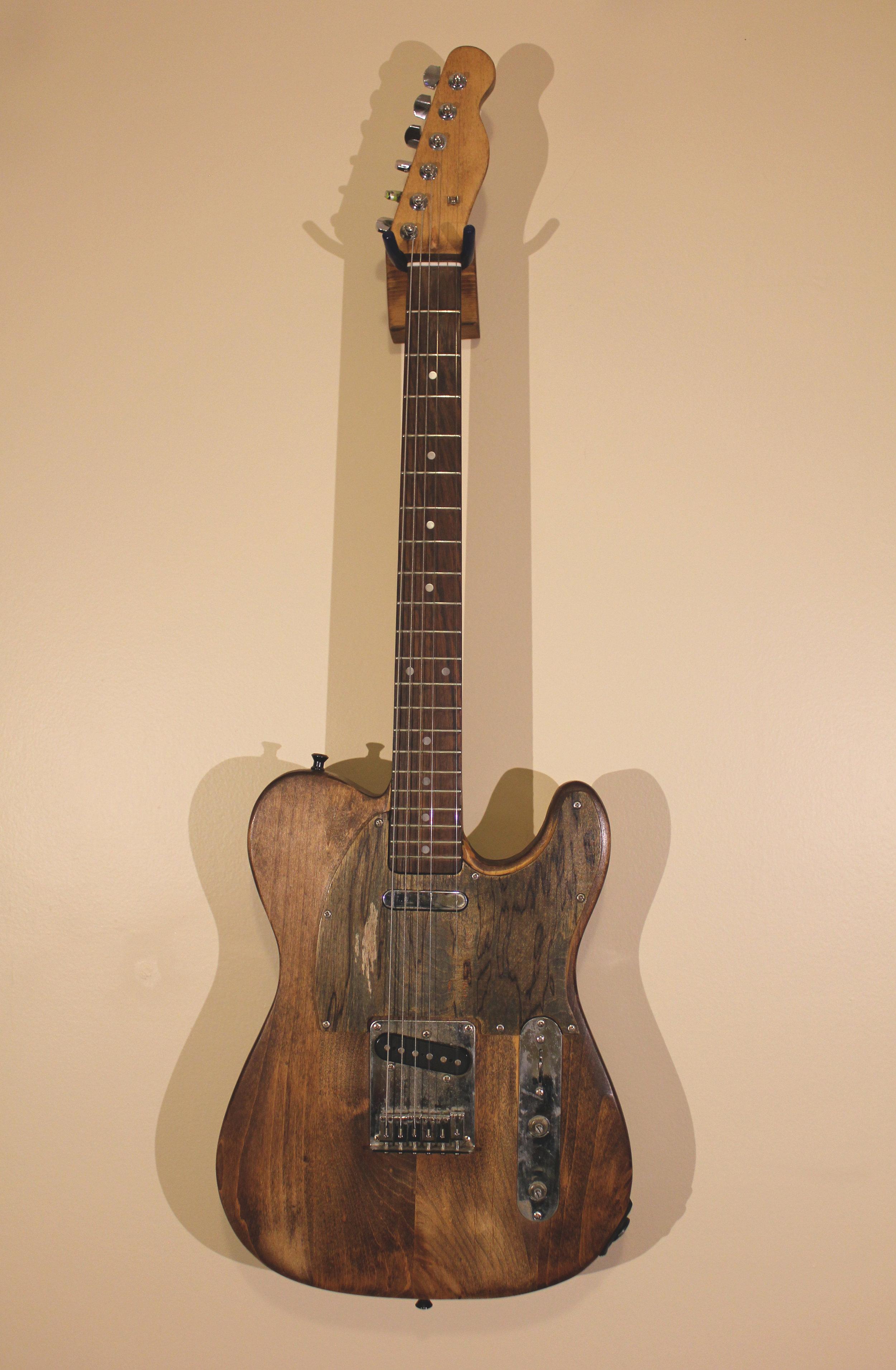Tele Custom   -not for sale- squier telecaster, woodstain, birch panel pickguard, sealer