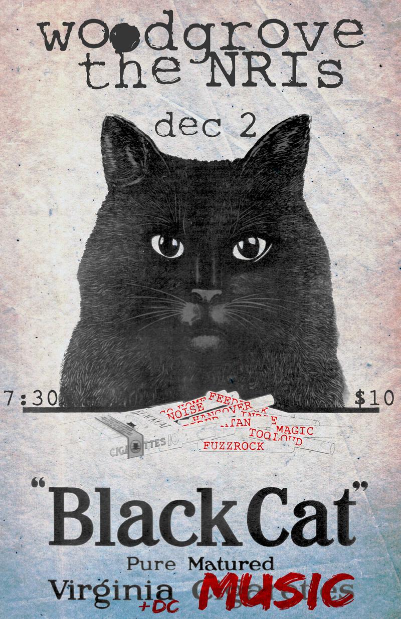 """Original image design from """"Black Cat"""" Cigarettes"""