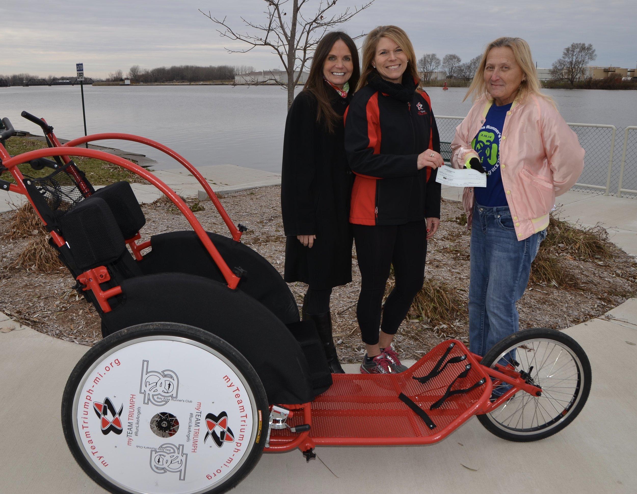 Bridget Staffileno - CFCU (St Pat Race Presenting Sponsor), Deb Militello - myTeamTriumph and Linda Flues - BARC