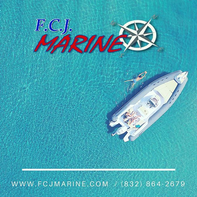 Visit us at our Houston shop or visit our website to inquire about your custom boat and proper engine to power your next getaway  Check page details to contact us #fcjmarine #boats #engines #motors