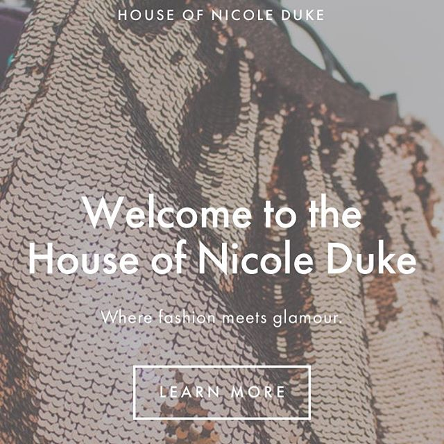 We are excited to announce the launch of our new website. The House of Nicole Duke consists of five lines: Nicole Duke Ready-to-Wear, Nicole's Closet, Just Nikki, Zoe & Jill and her home furnishing line At Home with Nicole Duke. Stayed to see our new collection. Coming soon xoxo ✨ #nicoleduke #fashion #designer #brand #nicolescloset #glamour #clothing #apparel #chic #newwebsite #friday