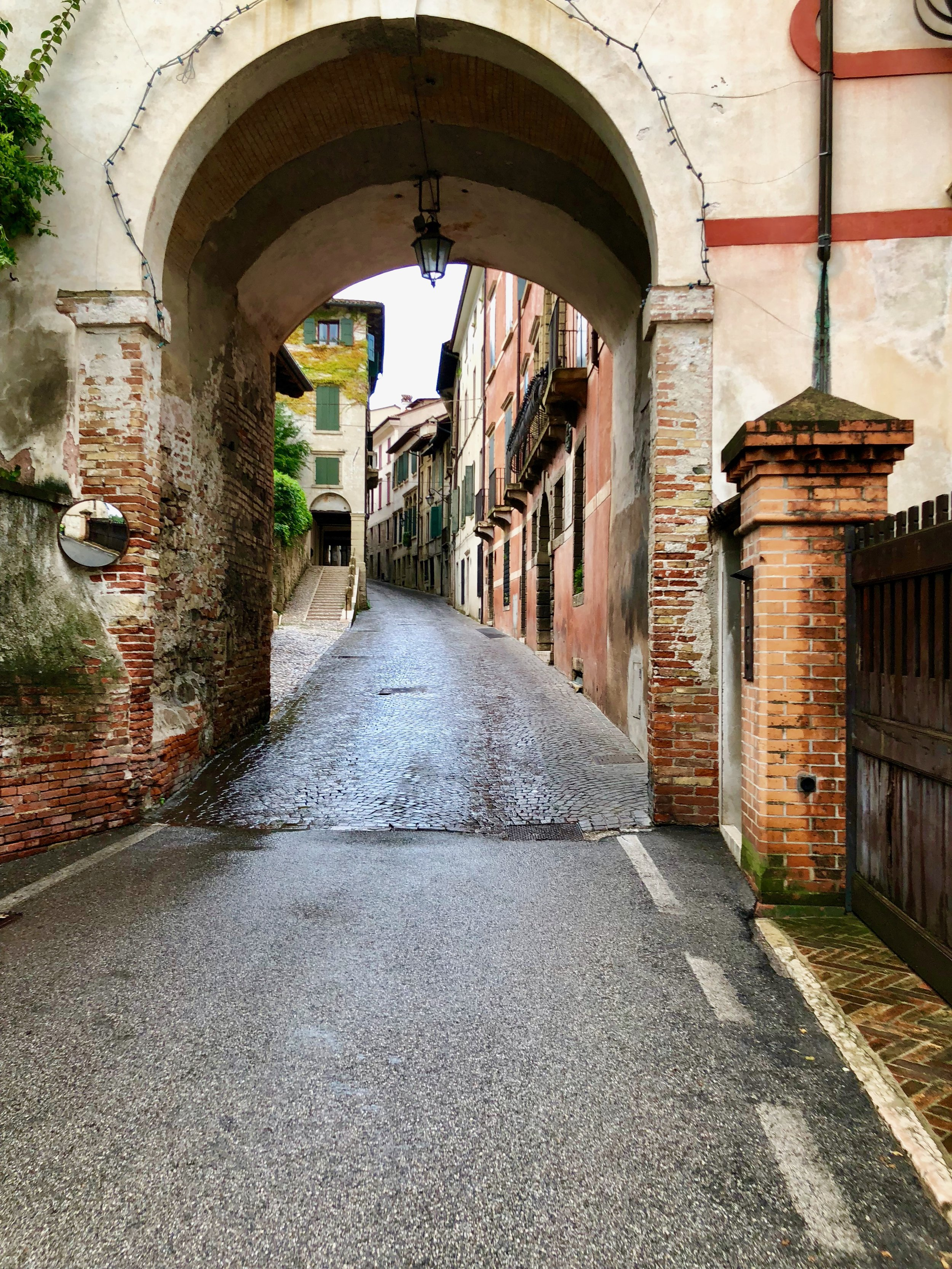 Asolo and it's many small brick streets