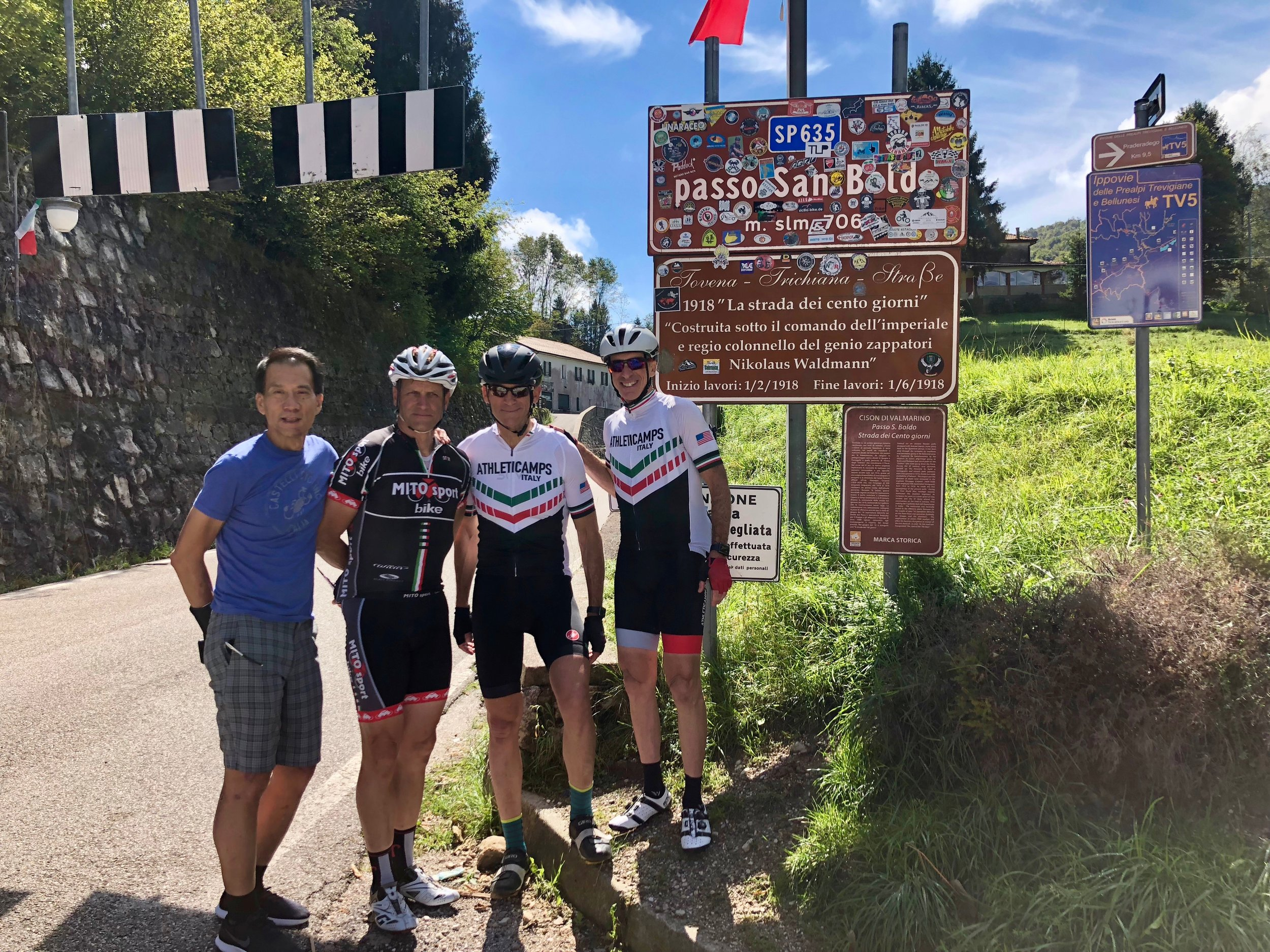 The top of Passo San Boldo