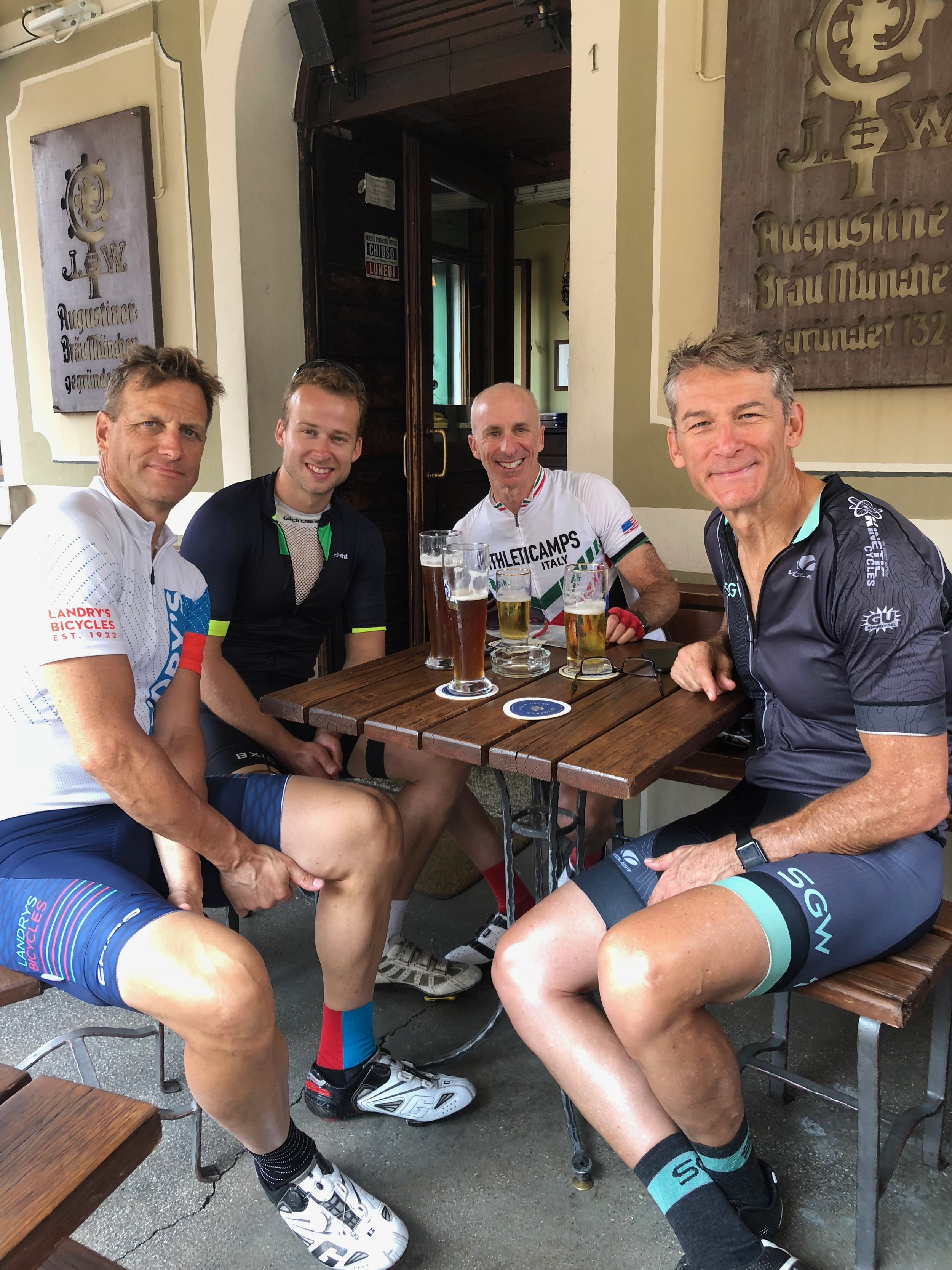 What better at the end of a long ride than beers at a local bar in Bassano