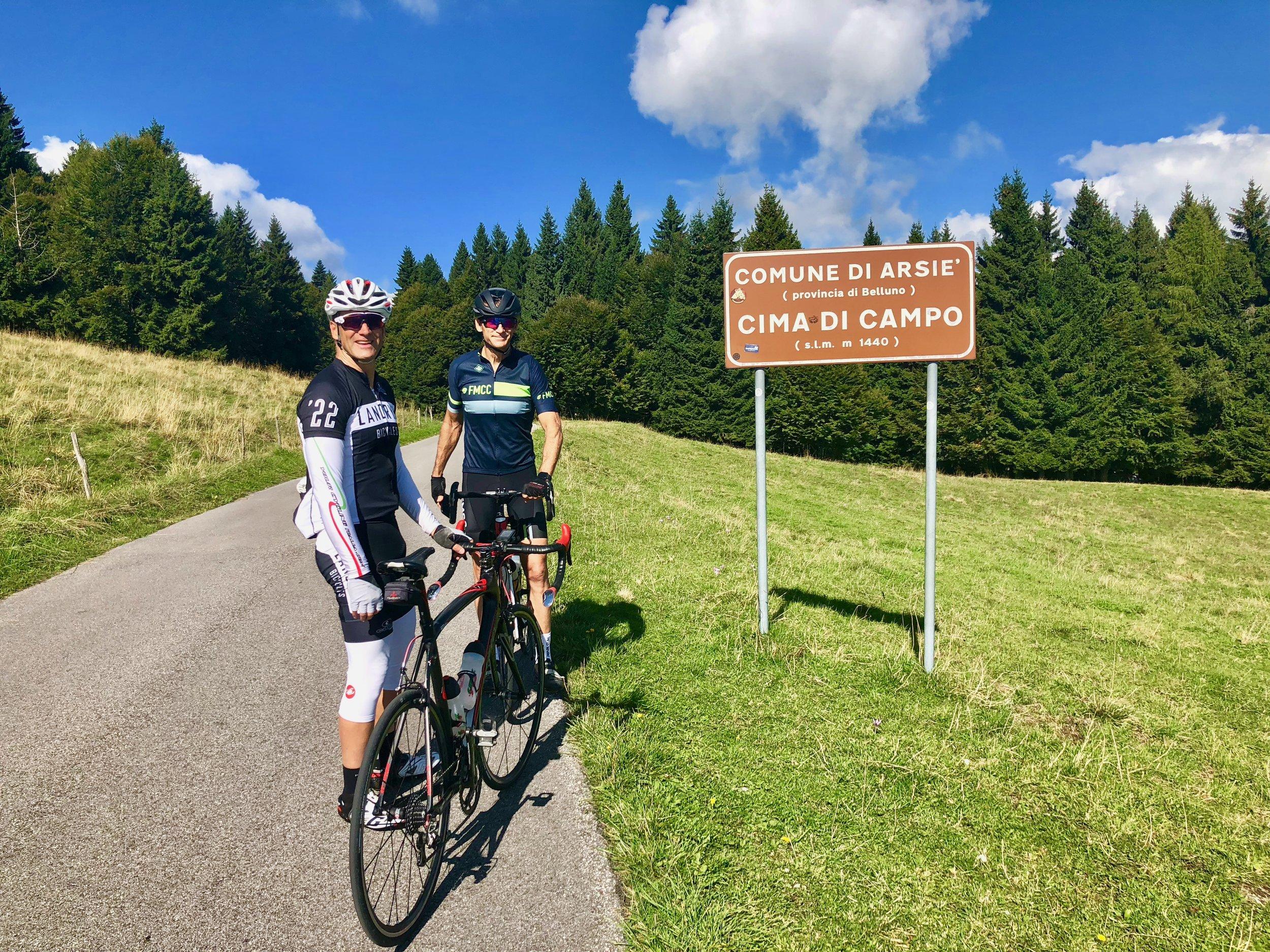 The top of Cimi Di Campo