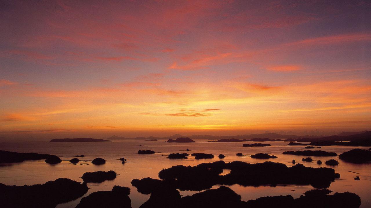 Nagazaki Evening View of Kujuku Island