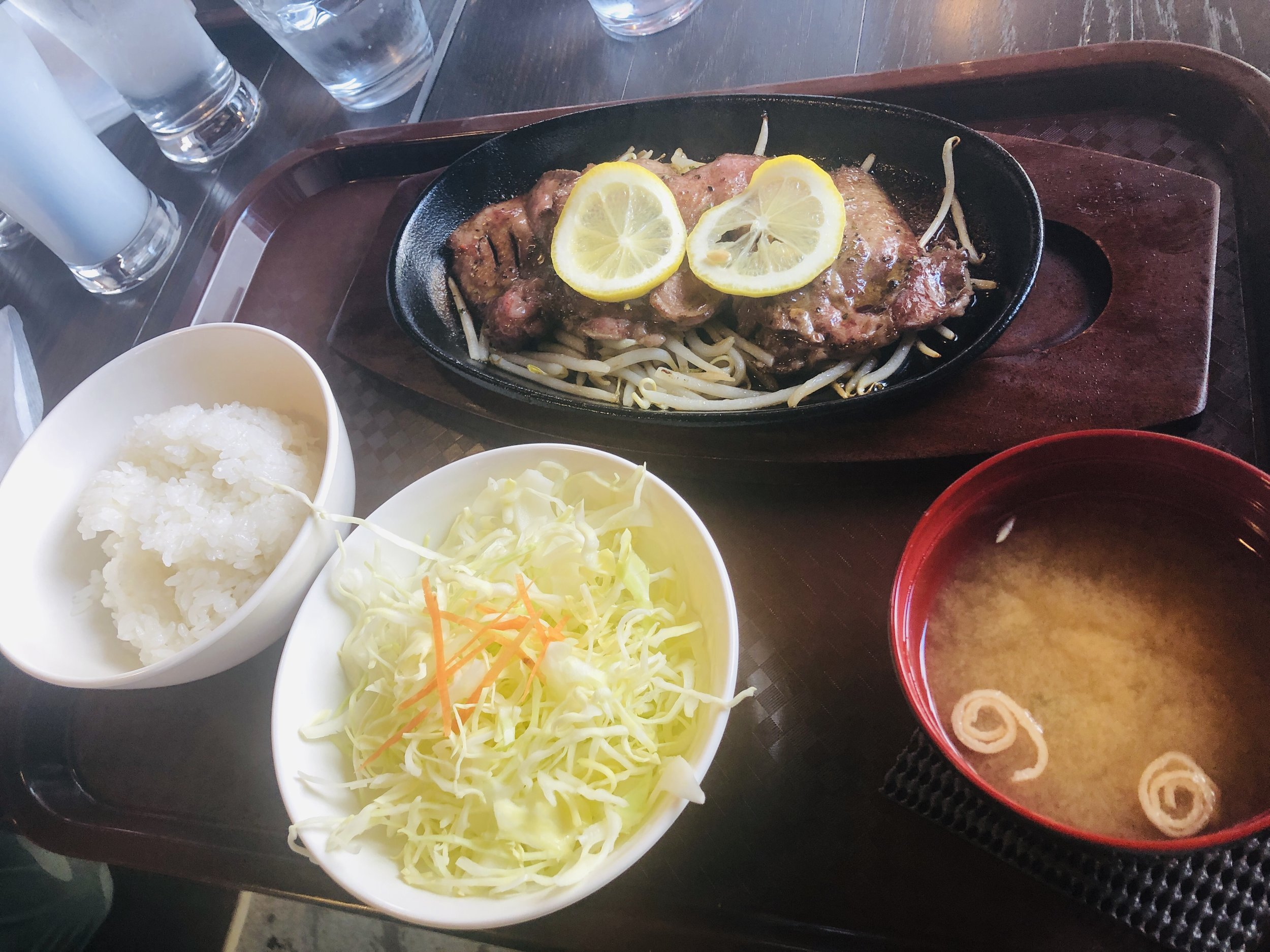 Beef tongue steak lunch set