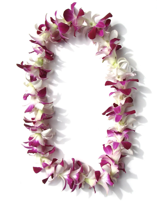 #3 Orchid Lei (*Purple and White / Pink)  $40 / $28 (For small kids)