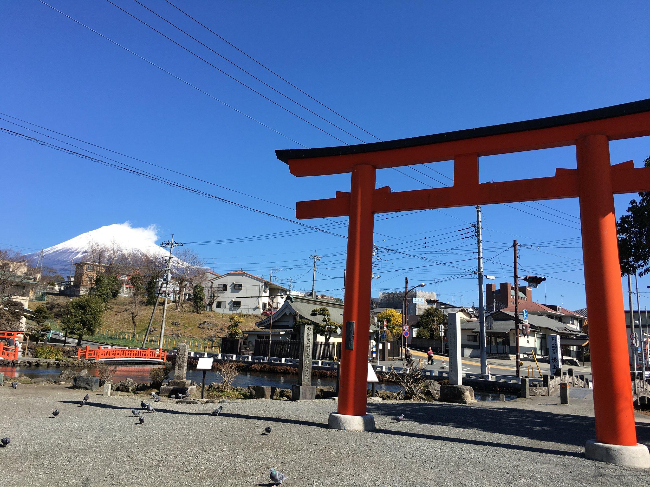 Mt. Fuji view from Fujisan Hongū Sengen Taisha Shrine