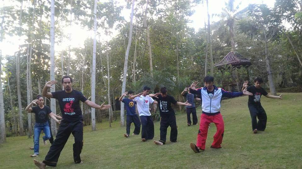Training in Indonesia under Kang Cecep Arif Rahman, in Pencak Silat Panglipur.