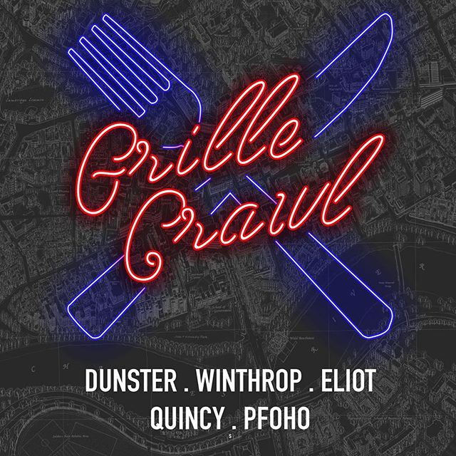 get ready to crawl. GRILLE CRAWL 🌭🍟🍽 grab up to 8 friends & join us at our student grilles the night of april 26!! different activities will be at each grille (karaoke, slime, cards against humanity, wii, need we say more?), and visit at least 3 to get a grille crawl shirt!