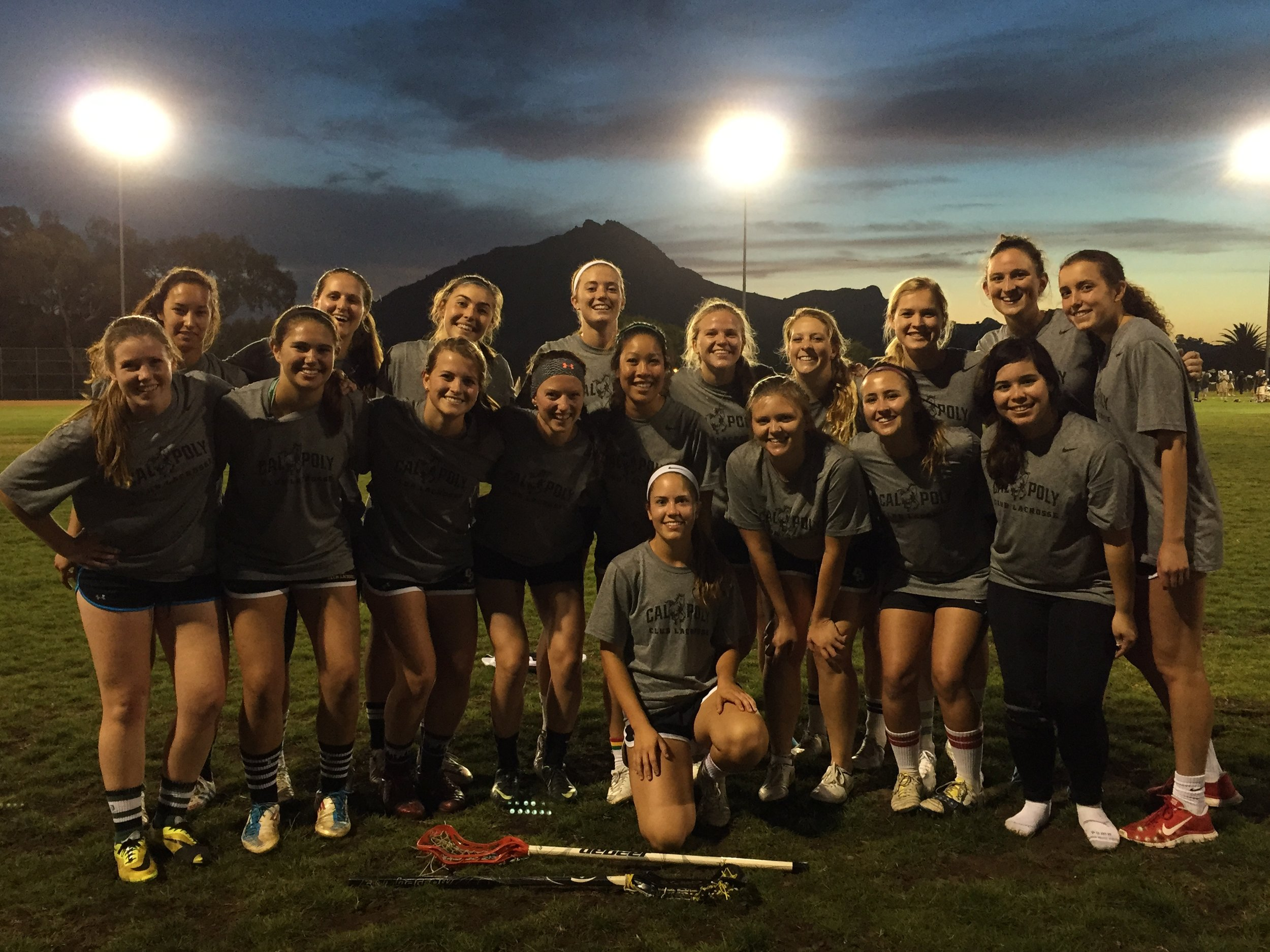 Erin's College lax team!! She probably got another yellow card during this game…