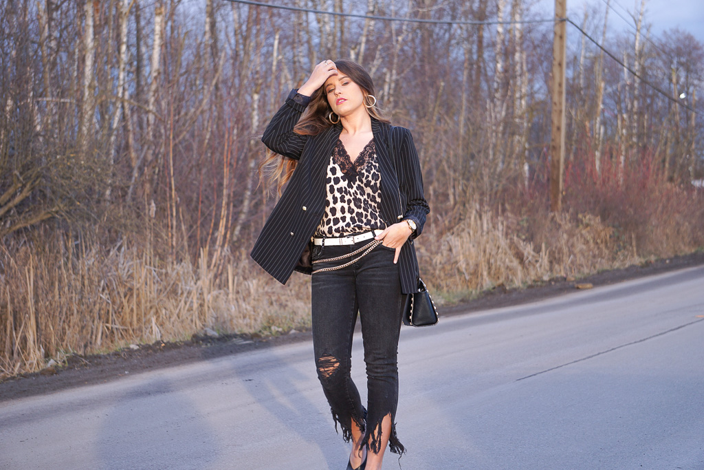 Leopard and Pinstripes.. -