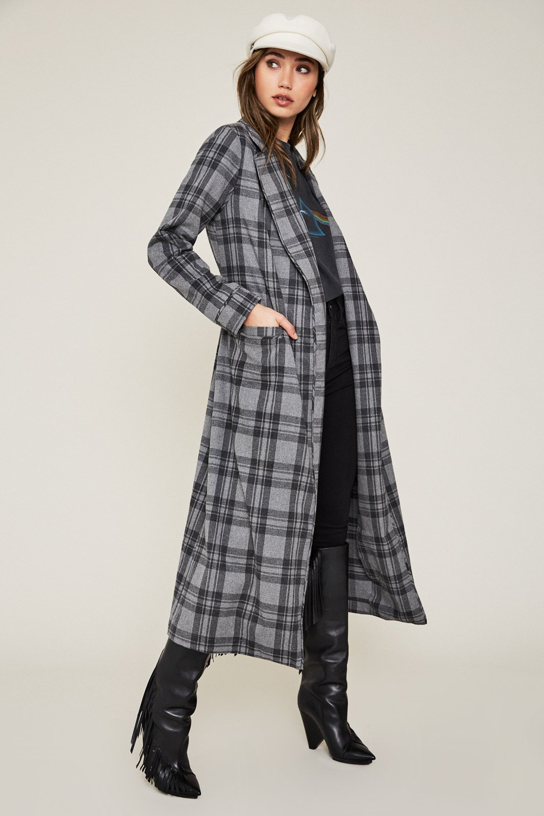 https://shopafrm.com/collections/outerwear/products/sol-flannel-wrap-coat-grey-plaid?variant=4868051238942