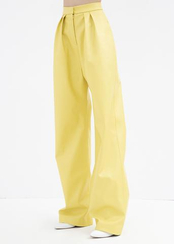 https://thefrankieshop.com/collections/new-arrivals/products/yellow-wide-leg-leather-pants-by-materiel-tbilisi
