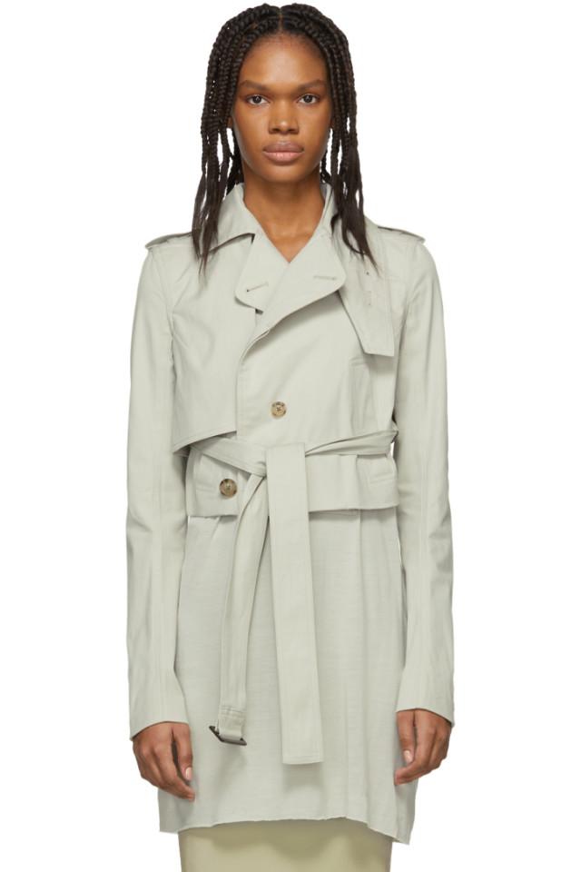 https://www.ssense.com/en-ca/women/product/rick-owens/grey-short-trench-coat/3333209