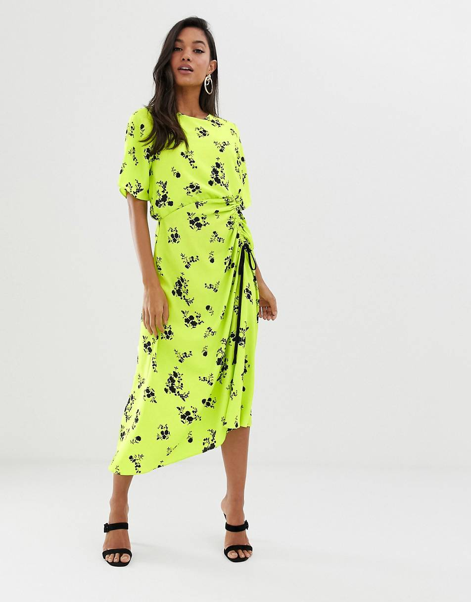https://www.asos.com/asos-design/asos-design-ruched-skirt-midi-dress-in-neon-floral-print/prd/11726551?clr=neon-floral&colourWayId=16362847&SearchQuery=floral%20skirt