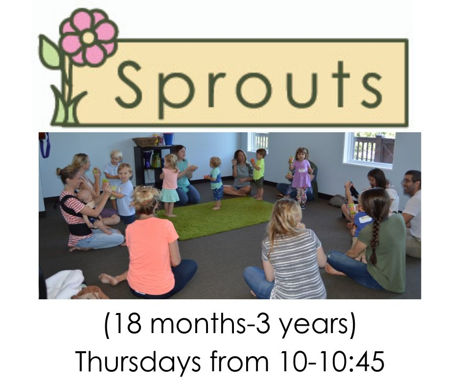 9:00-9:45am - Sprouts demo class is limited to 12 participants. Demo class is from 9:00-9:45am on Thursday, August 1st. Class meets regularly on Thursdays from 10-10:45. One demo class per family. Learn more by clicking here!
