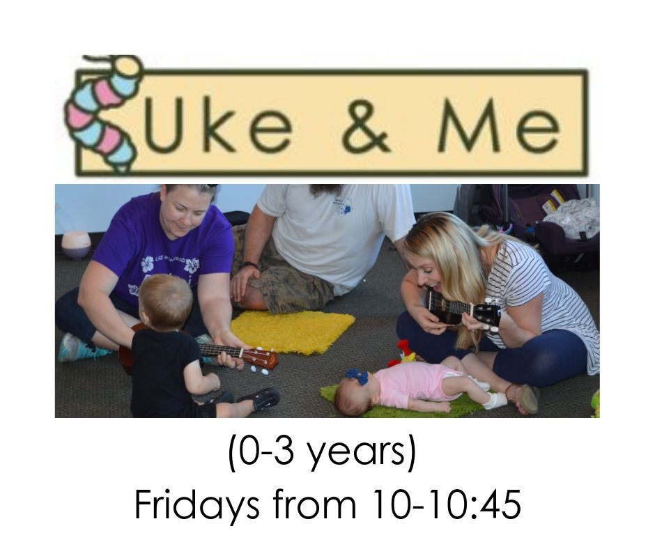 10-10:45am - Learn to play the ukulele while your kiddos explore movement and music! Demo class is from 10-10:45 on Thursday, August 1st. Class meets regularly on Fridays from 10-10:45. One demo class per family. Ticket includes parent and kiddo! Learn more by clicking here!