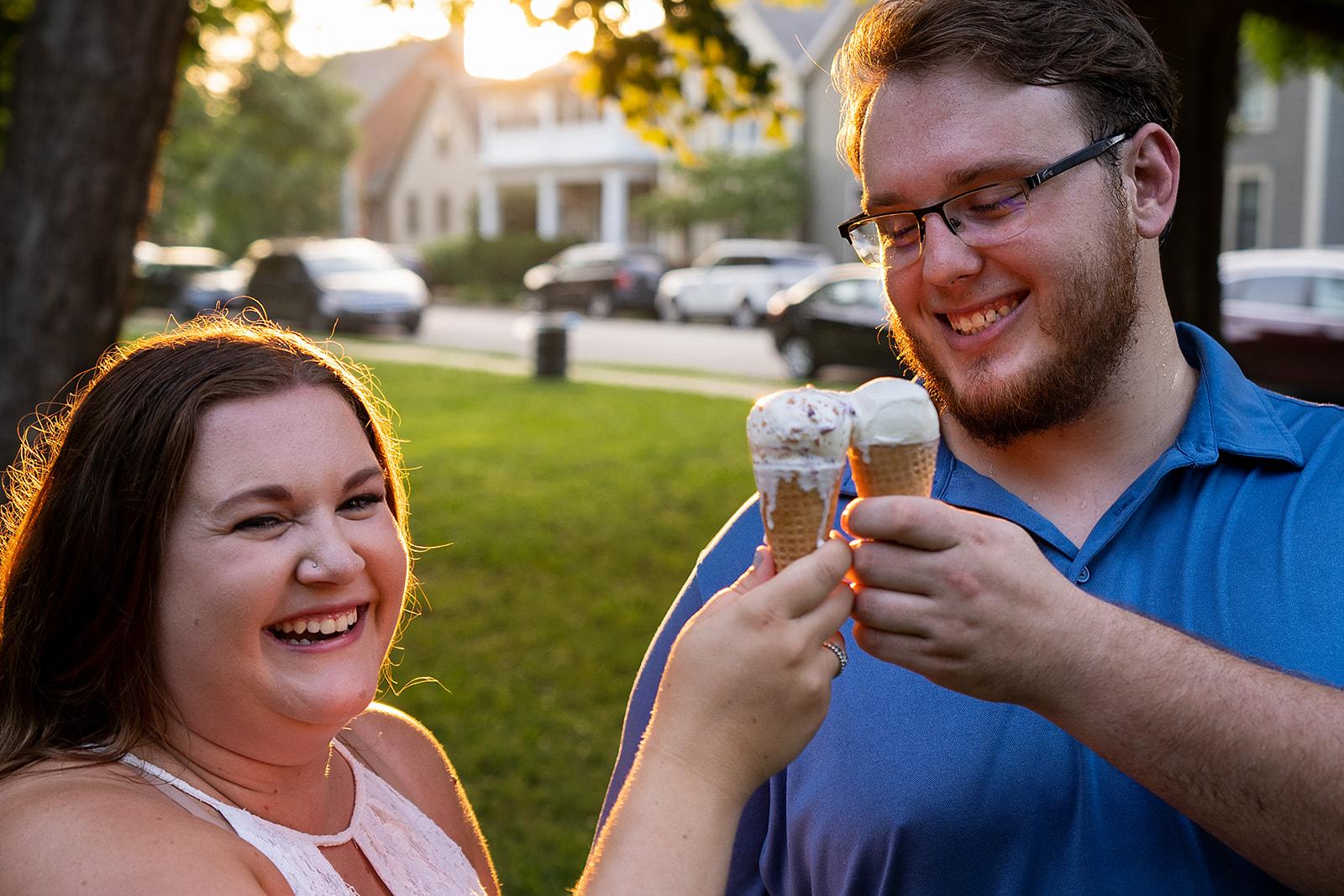 Bear Creative Co, Columbus Ohio Photographer, Columbus Ohio Wedding Photographer, German Village, Jeni's Ice Cream, Schiller Park, Engagement Session, Columbus Ohio, Destination Photographer