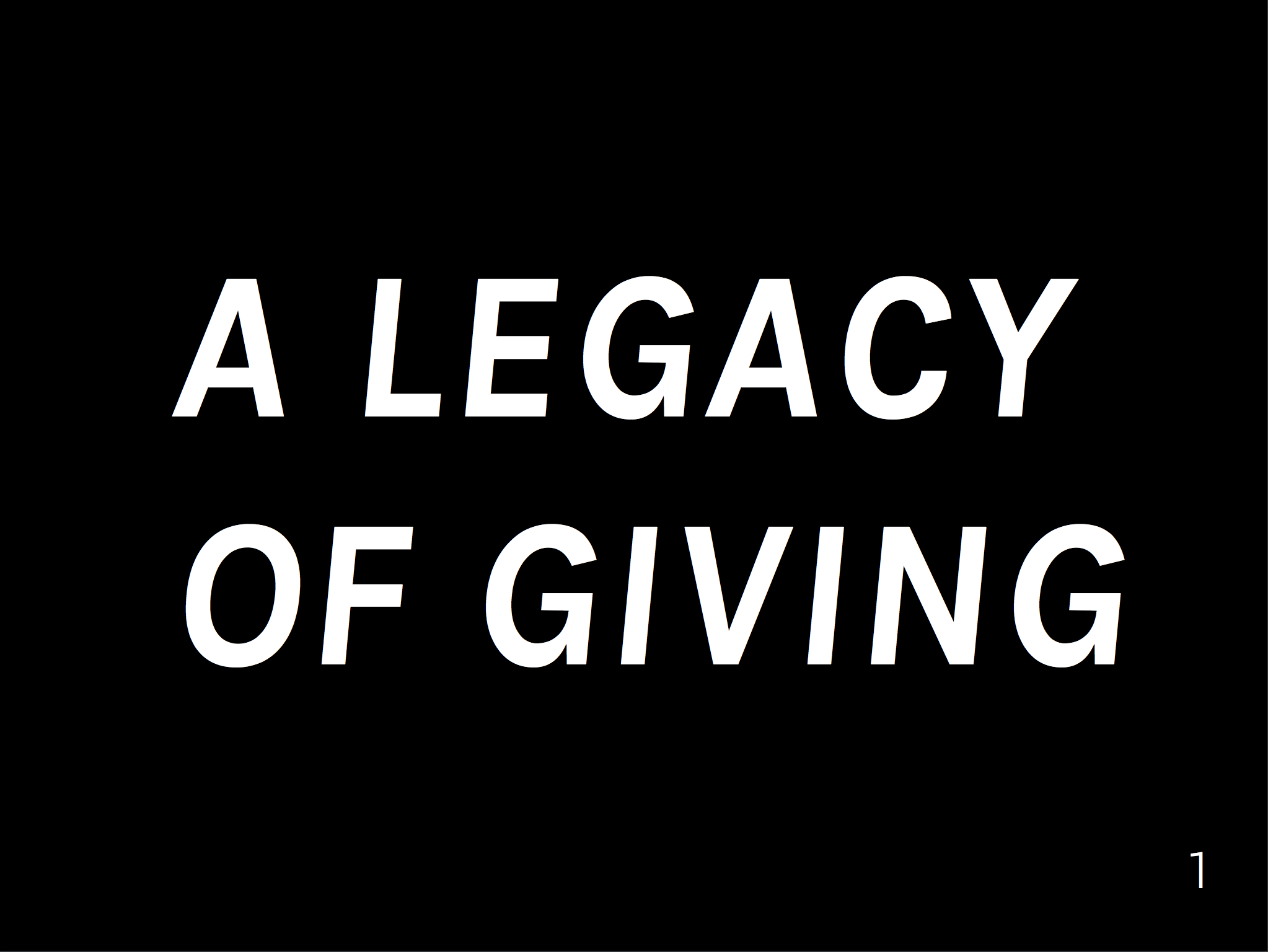 See the deck - Learn how design thinking exercises helped A Legacy of Giving transform its mission.