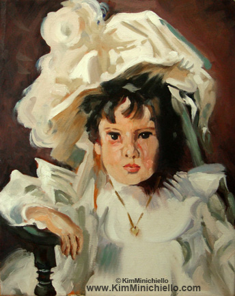 "Copy Study of John Singer Sargent's Dorothy 16"" x 20"", Oil on Canvas"