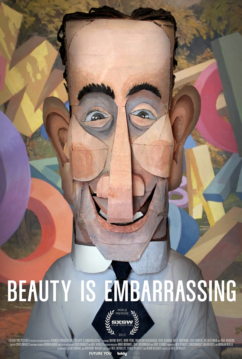 Movie Poster for Beauty is Embarrassing, The Wayne White Story via Beaty is Emabarrassing web site.