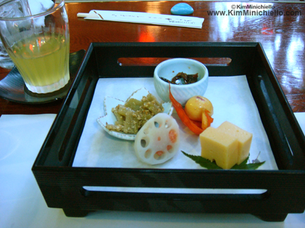 One of our courses during our kaiseki meal