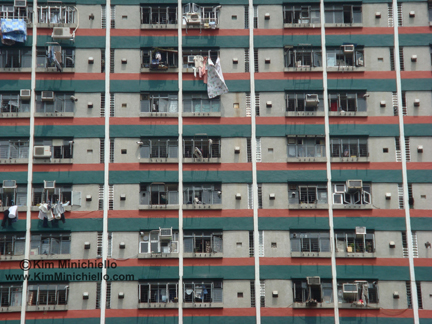 Detail of Apartment Buildings Surrounding Wong Tai Sin