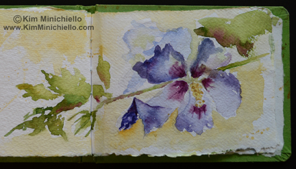 Watercolor Sketch on Hand Made Paper