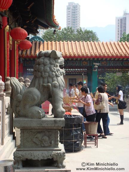 Worshippers at Wong Tai Sin
