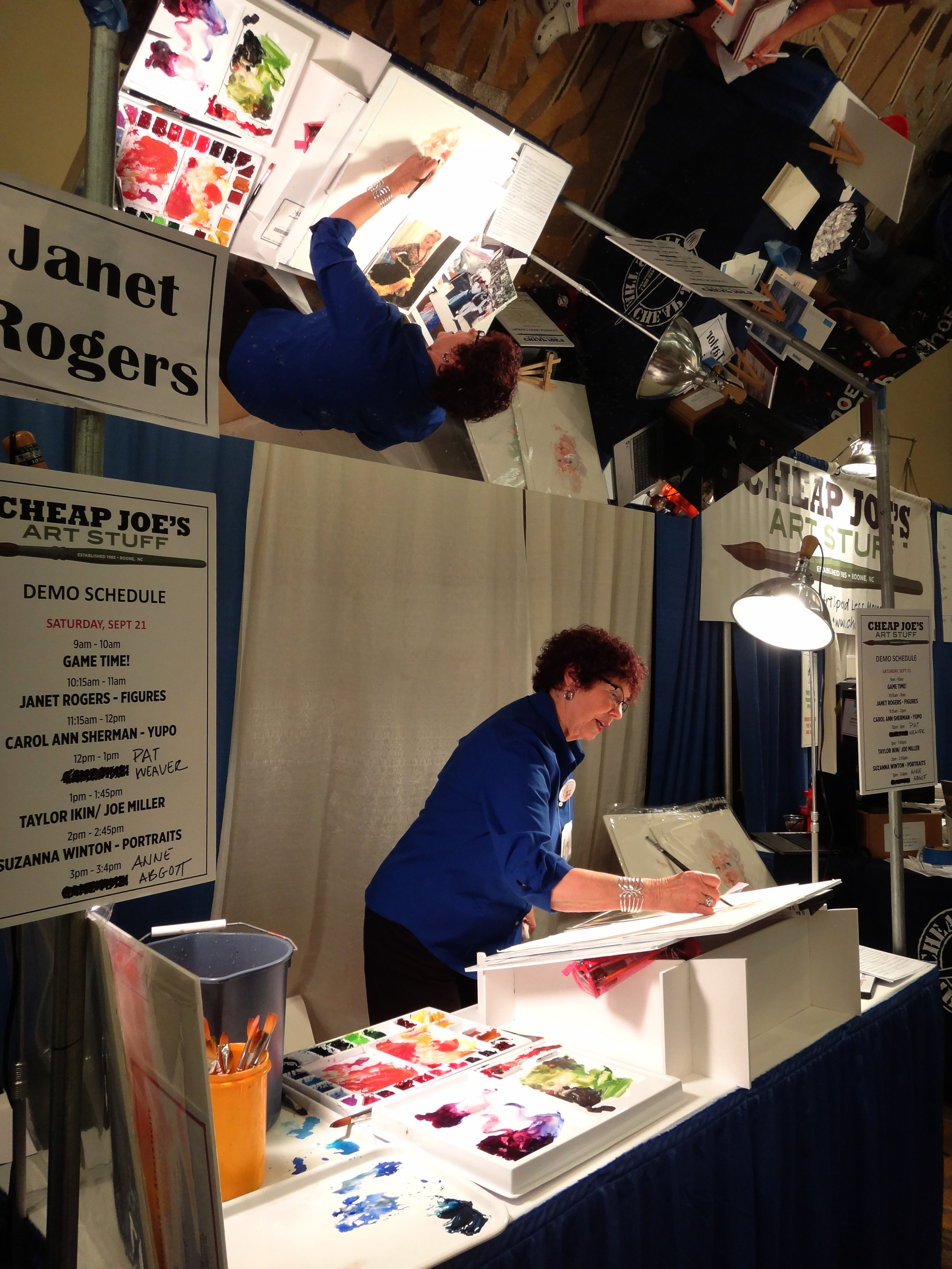 Janet Rogers giving demo at Cheap Joe's Booth