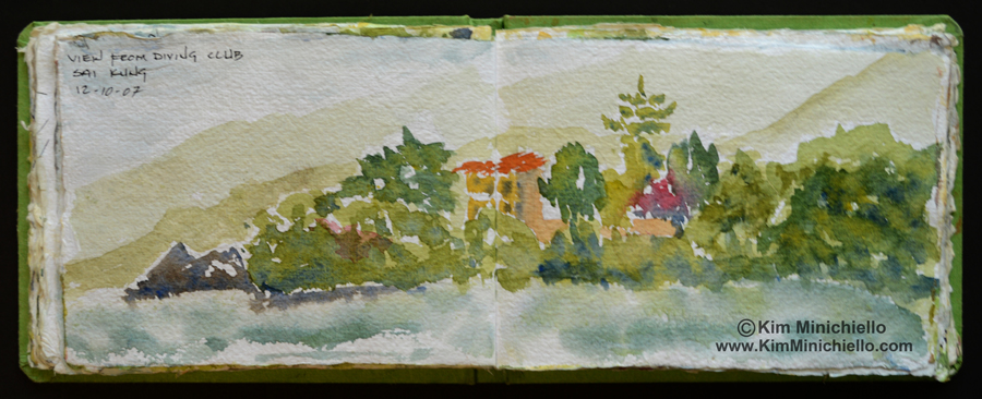 Watercolor Sketch on Handmade Paper