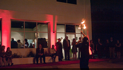 Fire Performer at Opening Night photo by Rhonda Walsingham