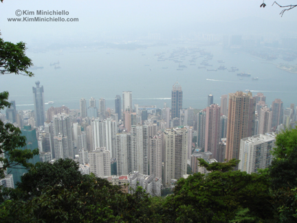 This is a view of just a tiny portion of Hong Kong where I lived.  Imagine there is likely an amah in each apartment in these towers.