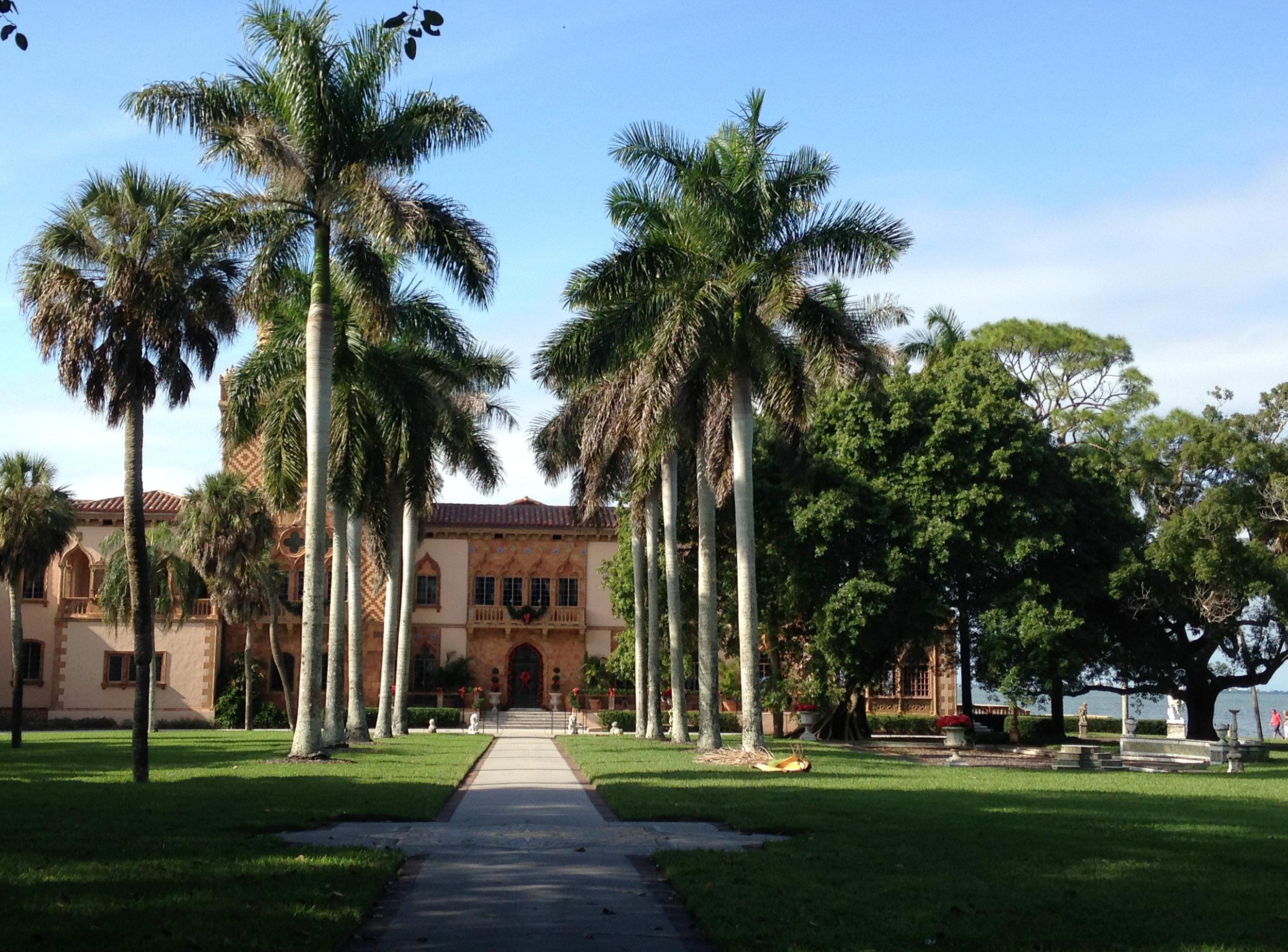 Entrance to Cá d'Zan, Ringling Mansion