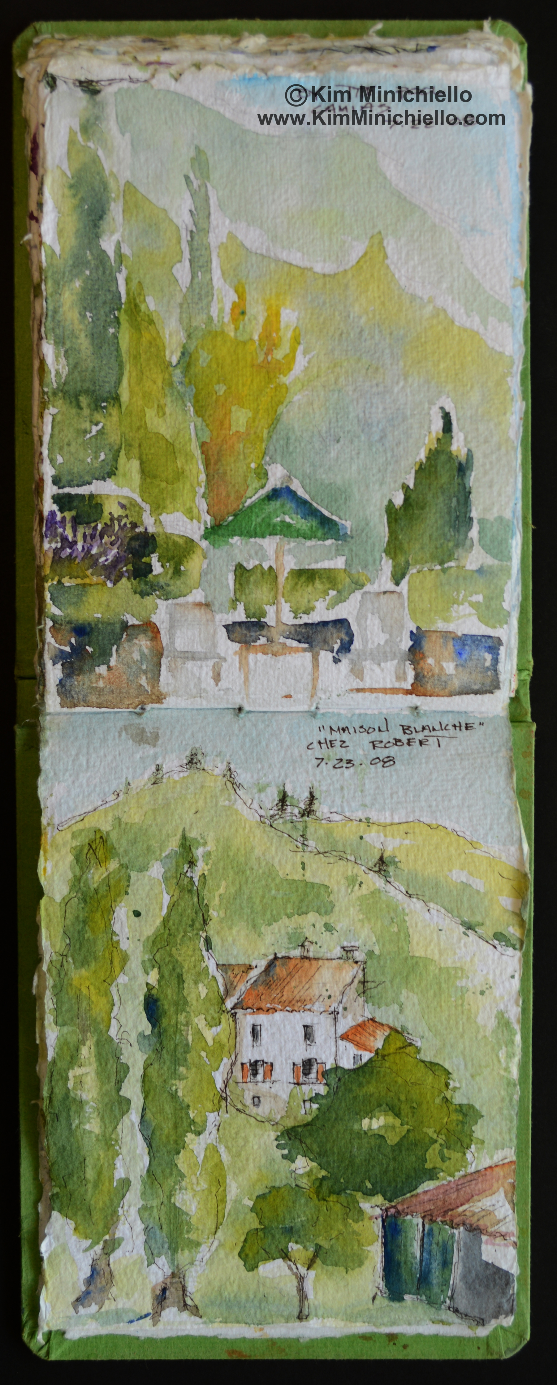 Watercolor sketches on Handmade Paper