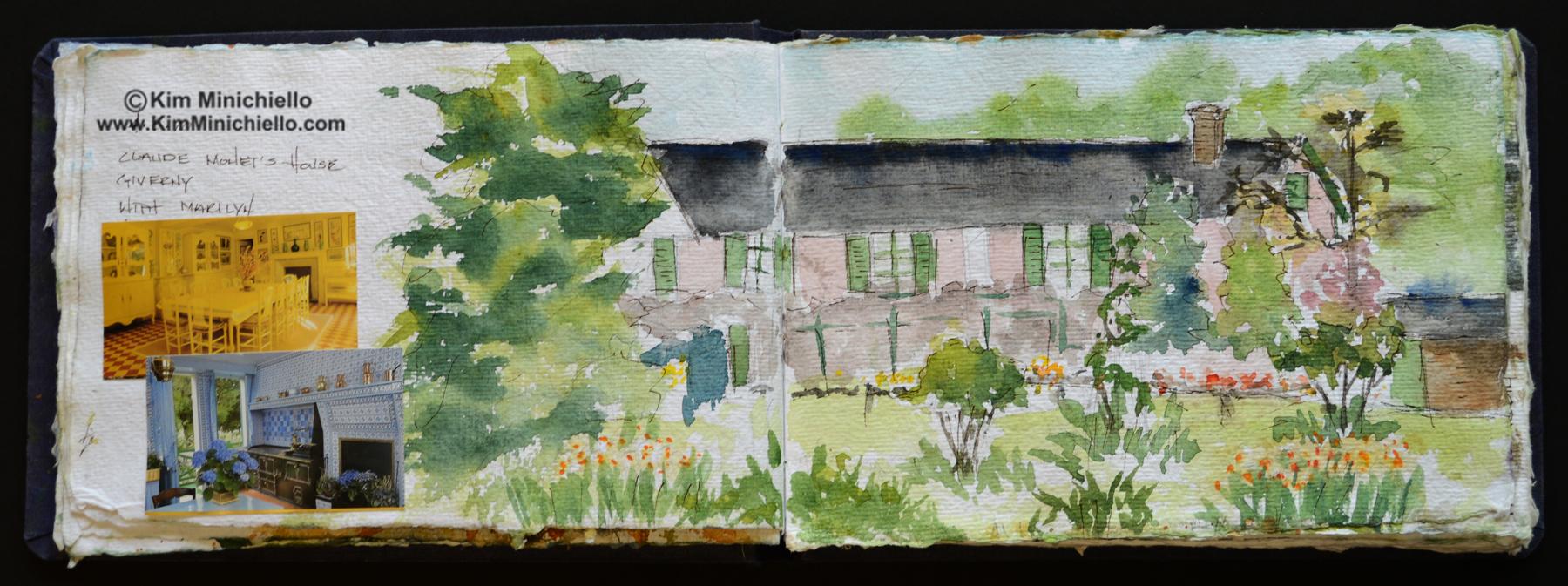 Watercolor Sketch on Handmade Paper