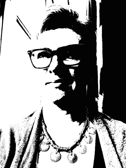 Notan selfie created on my iPad