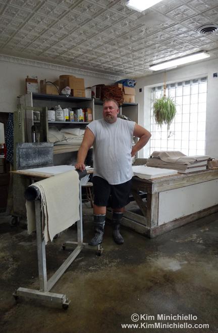 Travis Becker, Owner Twinrocker Paper & Master Papermaker