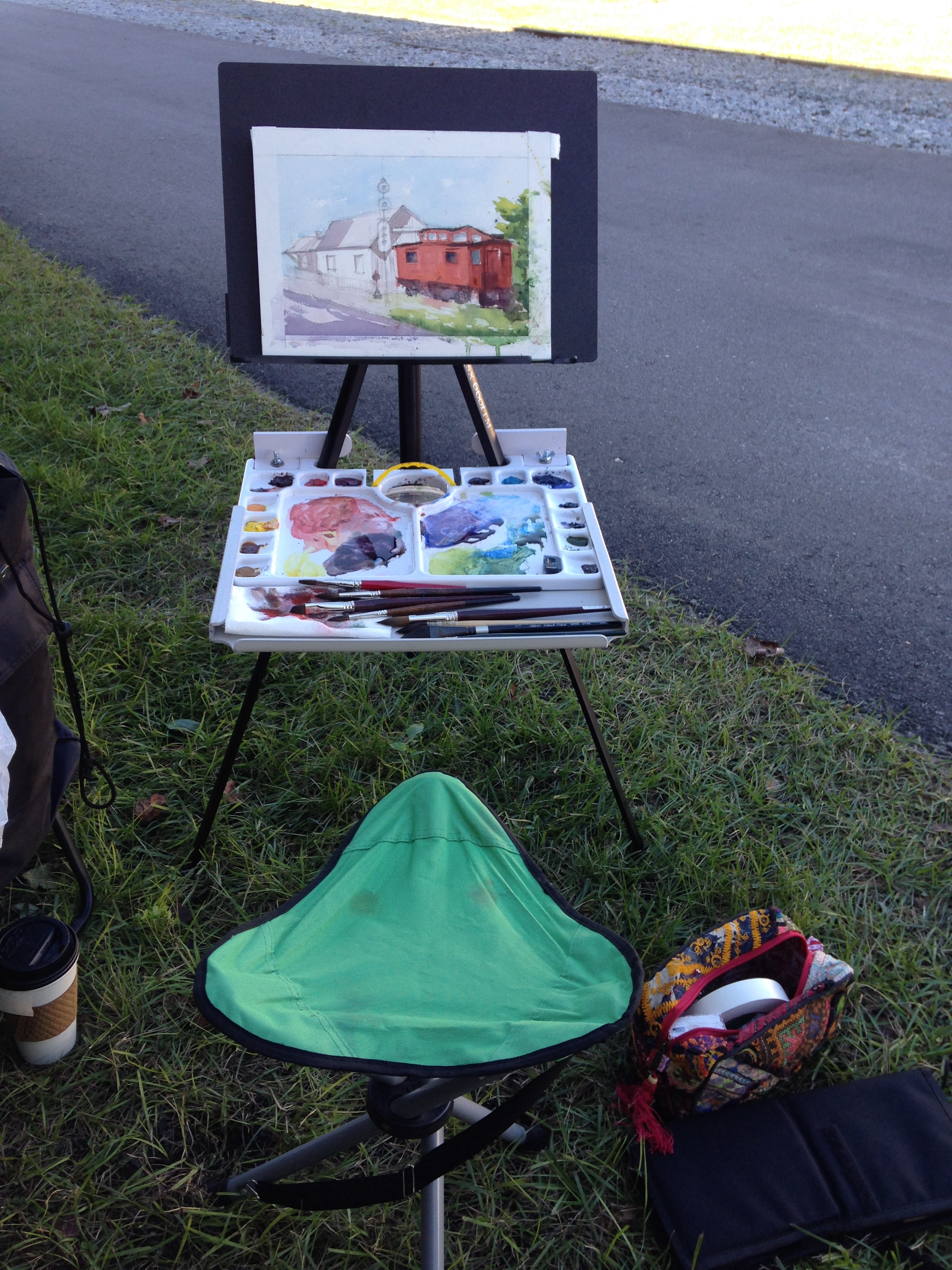 My Set Up for Plein Air Watercolor