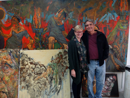 Mark and I in His Studio
